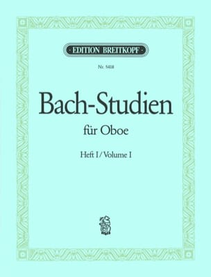 BACH - Bach-Studien für Oboe - Heft 1 - Sheet Music - di-arezzo.co.uk