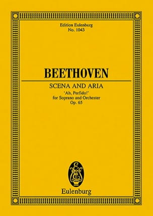 Ah, Perfido!, Opus 65 - Conducteur BEETHOVEN Partition laflutedepan