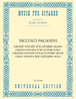 Grande Sonate PAGANINI Partition Guitare - laflutedepan