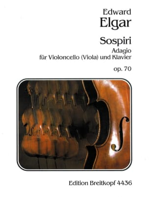 Edward Elgar - Sospiri op. 70 – Cello ou Alto - Partition - di-arezzo.fr