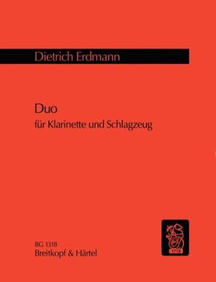 Dietrich Erdmann - Duo - Klarinette u. Schlagzeug - Partition - di-arezzo.fr
