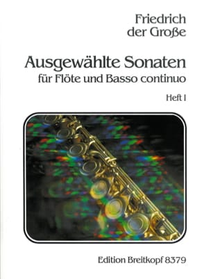 der Grosse Friedrich - Ausgewählte Sonaten, Heft 1 - Flûte et B. C. - Partition - di-arezzo.fr