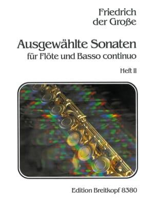 der Grosse Friedrich - Ausgewählte Sonaten - Heft 2 – Flöte u. Bc - Partition - di-arezzo.fr