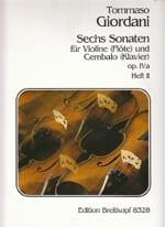 Tommaso Giordani - 6 Sonaten op. 4a, Heft 2 - Partition - di-arezzo.fr