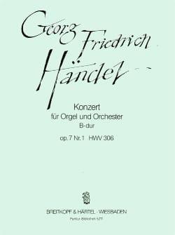 Orgelkonzert B-dur op. 7/1 HWV 306 - Partitur - laflutedepan.com
