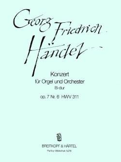 Orgelkonzert B-dur op. 7/6 HWV 311 - Partitur - laflutedepan.com