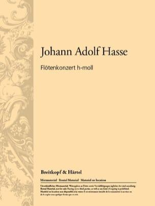 Johann Adolf Hasse - Concerto pour Flûte en Si Mineur - Partition - di-arezzo.fr