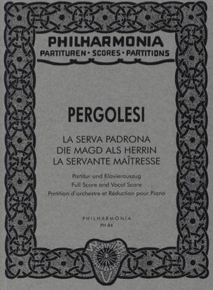 Giovanni Battista Pergolesi - La Serva padrona - Partitur - Partition - di-arezzo.fr