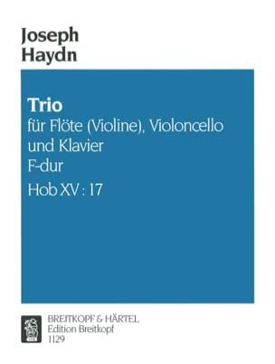 Joseph Haydn - Trio F-Dur Hob. 15 n° 17 –Flöte (Violine) Violoncello Klavier - Partition - di-arezzo.fr