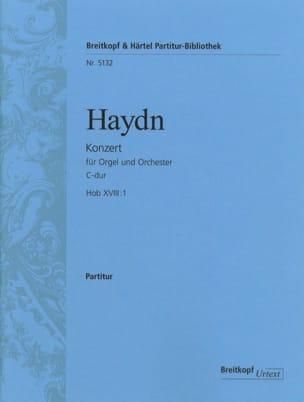 Joseph Haydn - Orgel-Konzert C-Dur Hob 18: 1 - Partitur - Partition - di-arezzo.fr