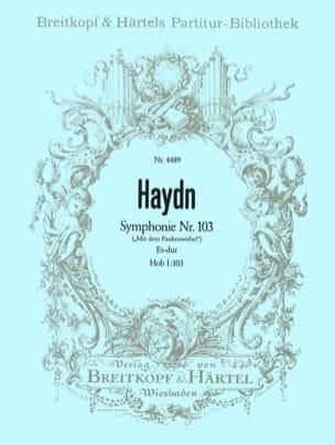 Joseph Haydn - Symphonie Es-Dur Hob I: 103 - Partition - di-arezzo.fr
