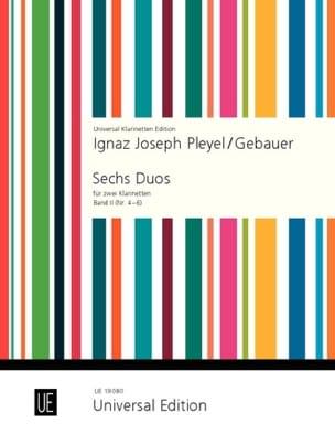 Pleyel Ignaz / Gebauer - 6 Duos für 2 Klarinetten - Bd. 2 (Nr. 4-6) - Partition - di-arezzo.fr