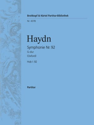 HAYDN - Symphony Nr. 92 G-Dur - Partitur - Sheet Music - di-arezzo.co.uk