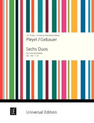Pleyel Ignaz / Gebauer - 6 Duos für 2 Klarinetten - Bd. 1 (Nr. 1-3) - Partition - di-arezzo.fr