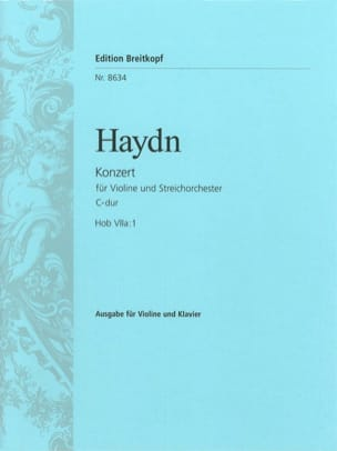 HAYDN - Violinkonzert C-Dur Hob. 7a: 1 - Sheet Music - di-arezzo.co.uk