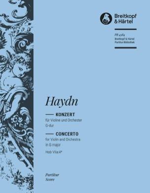 Violinkonzert G-Dur Hob 7a: 4* - Partitur - HAYDN - laflutedepan.com