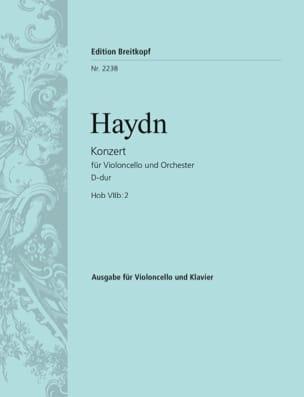 Konzert D-Dur Hob VIIb: 2 HAYDN Partition Violoncelle - laflutedepan