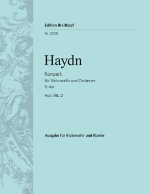 Konzert D-Dur Hob VIIb: 2 - HAYDN - Partition - laflutedepan.com