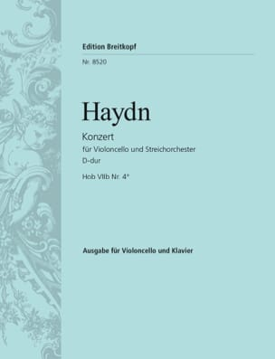 Concerto Violoncelle Ré majeur Hob. 7b n° 4 - HAYDN - laflutedepan.com