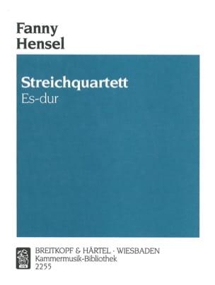 Fanny Hensel-Mendelssohn - Streichquartett Es-dur -Partitur + Stimmen - Partition - di-arezzo.fr