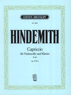Paul Hindemith - Capriccio la majeur, op. 8 n° 1 - Partition - di-arezzo.fr