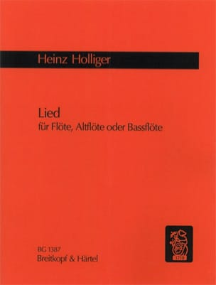 Heinz Holliger - Lied –Flöte, Altflöte oder Bassflöte - Partition - di-arezzo.fr