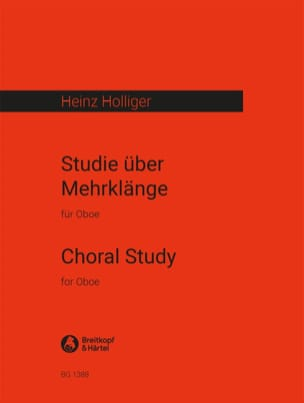 Heinz Holliger - Studie über Mehrklänge - Partition - di-arezzo.fr