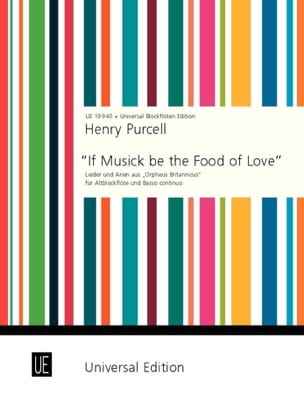 Henry Purcell - If Musick be the Food of Love - Partition - di-arezzo.fr