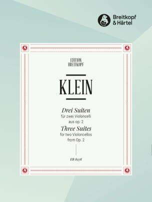 Jacob Klein - 3 Suiten aus op. 2 - 2 Violoncelles - Partition - di-arezzo.fr