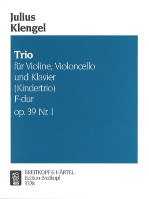 Julius Klengel - Kindertrio F-Dur op. 39 No. 1 - Sheet Music - di-arezzo.co.uk