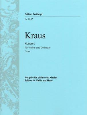 Joseph Martin Kraus - Konzert C-Dur für Violine - Partition - di-arezzo.fr