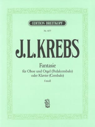 Johann L. Krebs - Fantasy F-Moll F Minor - オーボエとオルガン - 楽譜 - di-arezzo.jp