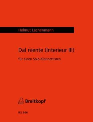 Helmut Lachenmann - Dal Niente (Intérieur 3) - Partition - di-arezzo.fr