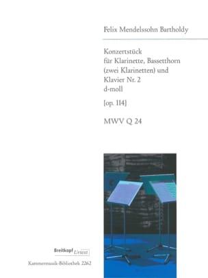 MENDELSSOHN - Konzertstück Nr. 2 d-moll op. 114 -Klarinette Bassetthorn Klavier - Partition - di-arezzo.fr