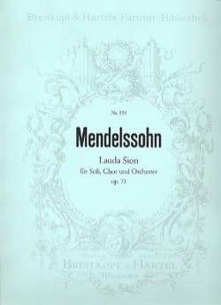 Lauda Sion - MENDELSSOHN - Partition - Grand format - laflutedepan.com