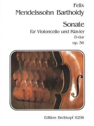 Sonate D-Dur op. 58 - MENDELSSOHN - Partition - laflutedepan.com