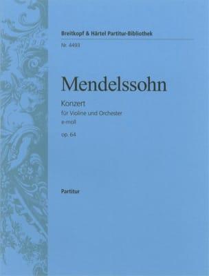 Bartholdy Felix Mendelssohn - Violinkonzert e-moll op. 64 – Partitur - Partition - di-arezzo.fr