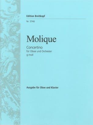 W. Bernhard Molique - Concertino for oboe in G minor - Sheet Music - di-arezzo.co.uk
