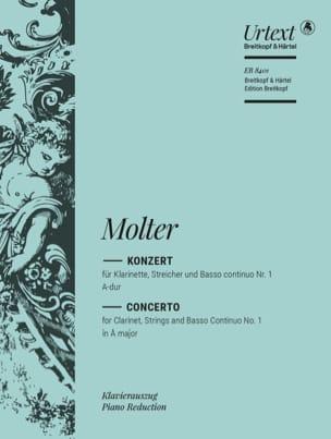Johann Melchior Molter - Klarinettenkonzert Nr. 1 A-Dur - Klarinette Klavier - Partition - di-arezzo.fr
