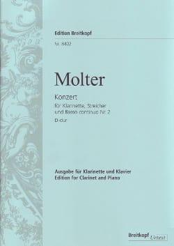 Johann Melchior Molter - Klarinettenkonzert Nr. 2 D-Dur – Klarinette Klavier - Partition - di-arezzo.fr
