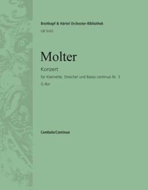 Johann Melchior Molter - Klarinettenkonzert, Nr. 3 G-Dur - Partition - di-arezzo.fr