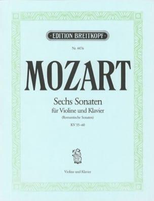 MOZART - 6 Sonaten KV 55-60 - Partition - di-arezzo.fr