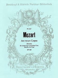 MOZART - Ave verum corpus KV 618 - Partitur - Partition - di-arezzo.co.uk