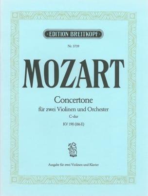 Wolfgang Amadeus Mozart - Concertone C-Dur KV 190 – 2 Violinen Klavier - Partition - di-arezzo.fr