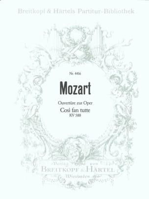 MOZART - Cosi Fan Tutte - Ouverture, Kv 588 - Partitur - Partition - di-arezzo.fr