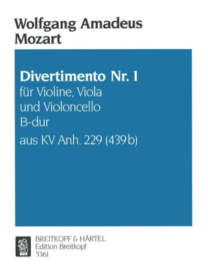 MOZART - Divertimento Nr.1 B-Hard KV Anh. 229 - Violine Viola Cello - Stimmen - Sheet Music - di-arezzo.co.uk