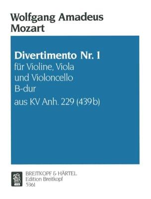 MOZART - Divertimento Nr.1 B-Dur KV Anh. 229 -Violine Viola Cello - Stimmen - Partition - di-arezzo.fr