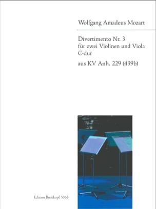 MOZART - Divertimento 3 C-Dur - 2 Violins Alto - Sheet Music - di-arezzo.com