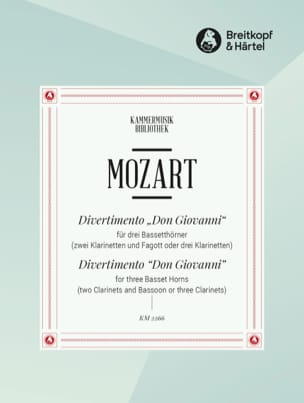 MOZART - Divertimento Don Giovanni - 3 Bassetthörner 2 Klar. Fag. / 3 Klar. - Sheet Music - di-arezzo.co.uk