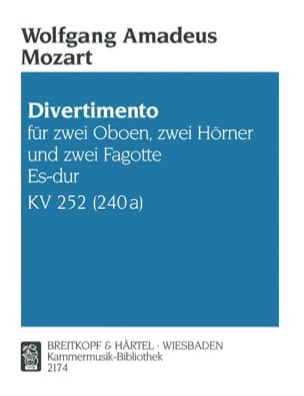 Divertimento Es-Dur KV 252 -Bläsersextett - Stimmen laflutedepan